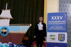 Emilka Kaczmarek na XXXV Ogólnopolskim Konkursie Krasomówczym w Legnicy
