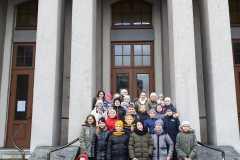 Wizyta klas IV-VI w teatrze w Częstochowie
